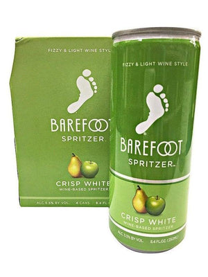 Barefoot Refresh Crisp White Spritzer 4 Pack Can's