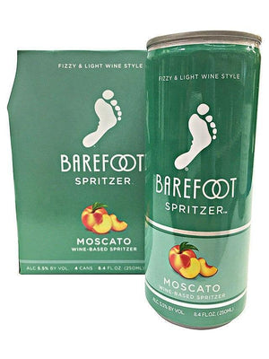 Barefoot Spritzer Moscato 4 Pack Can's