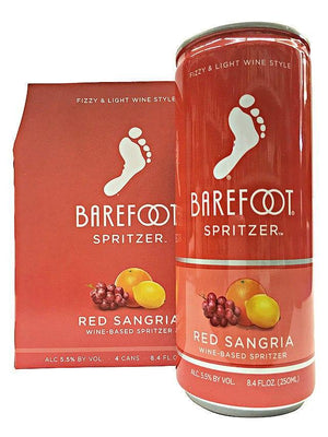 Barefoot Spritzer Red Sangria 4 Pack Can's