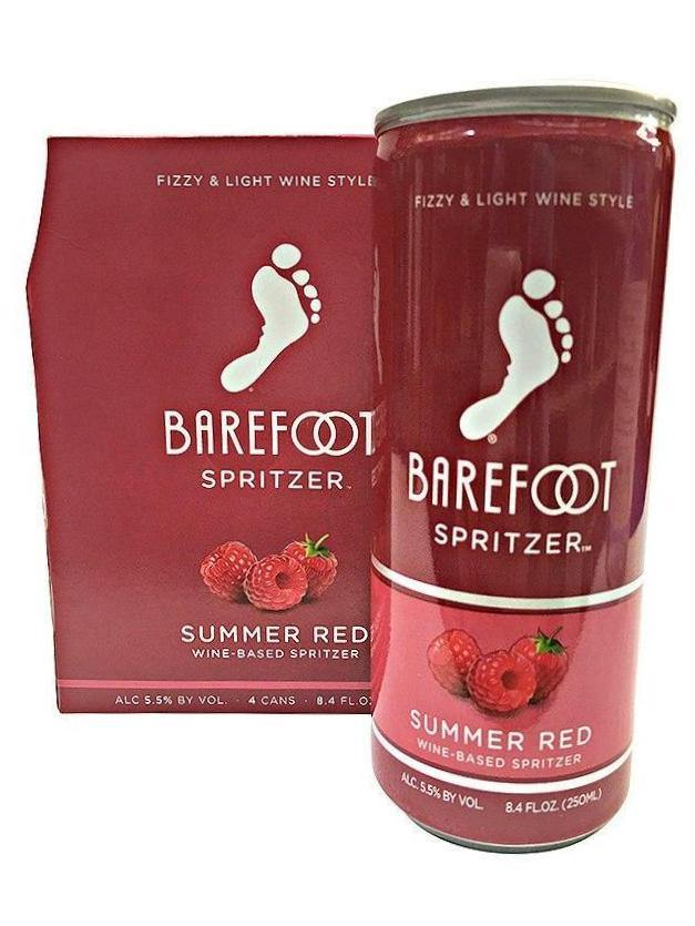 Barefoot Refresh Summer Red Spritzer 4 Pack Can's