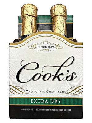 Cook's Cellars Champagne Extra Dry 187ml 4 Pack