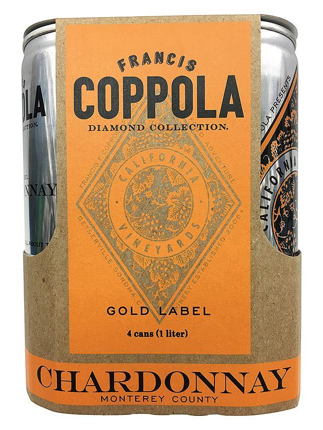 Francis Coppola Diamond Chardonnay Can 4 Pack