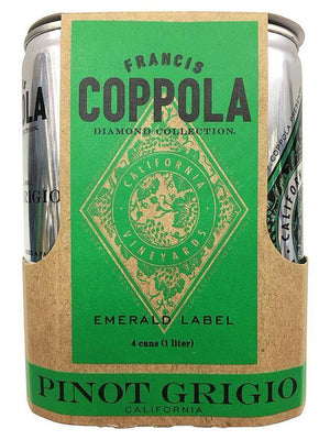 Francis Coppola Diamond Collection Pinot Grigio Can 4 Pack