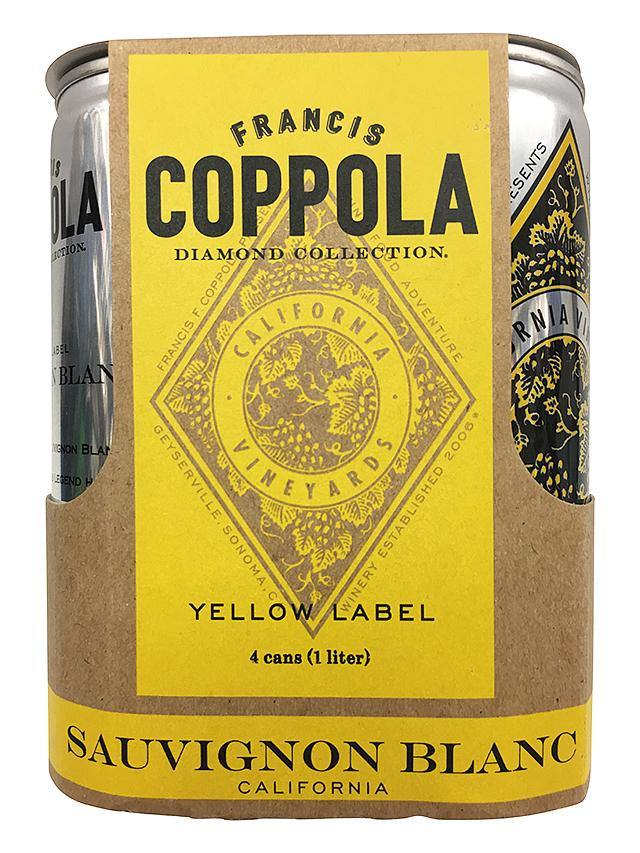 Francis Coppola Diamond Sauvignon Blanc Can 4 Pack