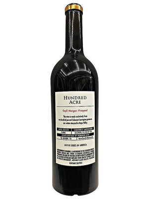 Hundred Acre Kayli Morgan Vineyard Cabernet Sauvignon 2014 Vintage Back