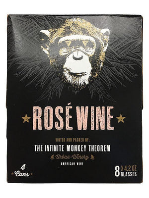 Infinite Monkey Rosé Wine Can 4 Pack