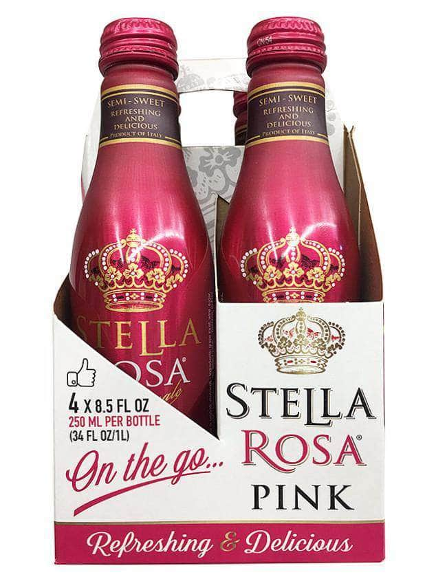 Stella Rosa Stella Pink Semi-Sweet Rose 250ml 4 Pack