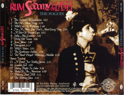 The Pogues ‎– Rum Sodomy & The Lash /U.S.