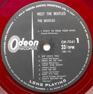 The Beatles ‎– Meet The Beatles! /Japan (1964/RED)