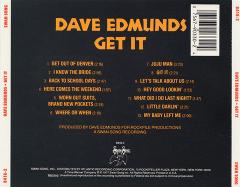 Dave Edmunds ‎– Get It /U.S.