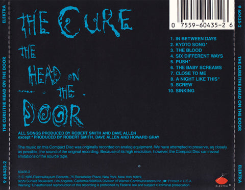 The Cure ‎– The Head On The Door /U.S.