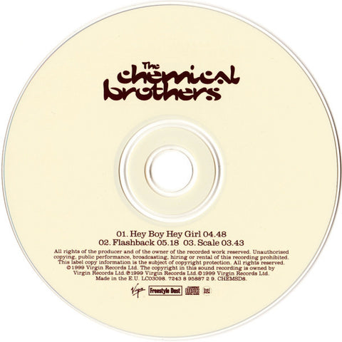 The Chemical Brothers ‎– Hey Boy Hey Girl (single) /E.U.