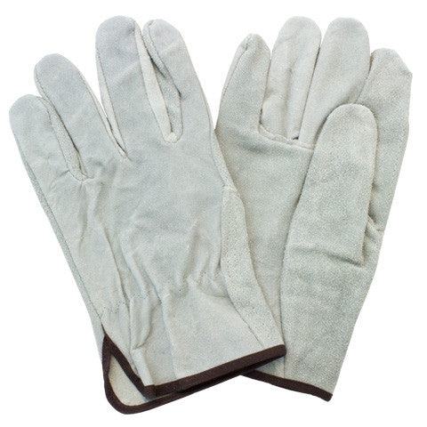 """A/B"" Grade Gunn Cut Gray Leather Straight Thumb Drivers Gloves"