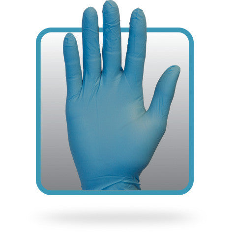 3 MIL Blue Powder Free Nitrile Gloves by The Safety Zone - JaniDepot