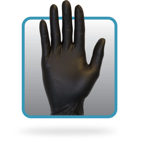 3.3 MIL Black Powder Free Nitrile Gloves by The Safety Zone - JaniDepot