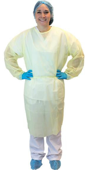 Polypropylene Isolation Gowns (Yellow/Blue/White/Green) by The Safety Zone - JaniDepot