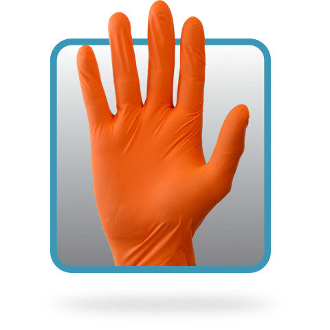 3.7 MIL Orange Powder Free Nitrile Gloves by The Safety Zone - JaniDepot