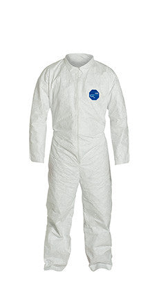 DuPont™ Tyvek® 400 TY120S WH Coverall Open Wrists & Ankles-Sold by the Case (25 Garments per Case) by Dupont - JaniDepot