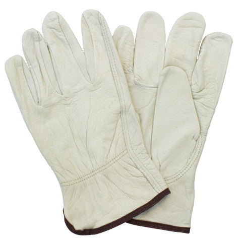 """A/B"" Top Grain Beige Pig Gunn Cut Keystone Thumb Drivers Gloves"