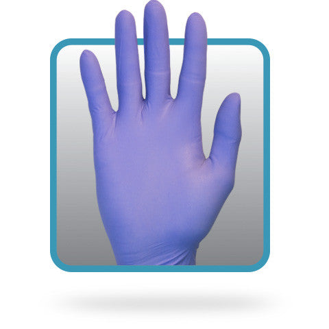 3 MIL Purple Powder Free Nitrile Gloves by The Safety Zone - JaniDepot