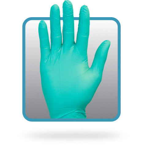 3.7 MIL Green Powder Free Nitrile Gloves by The Safety Zone - JaniDepot