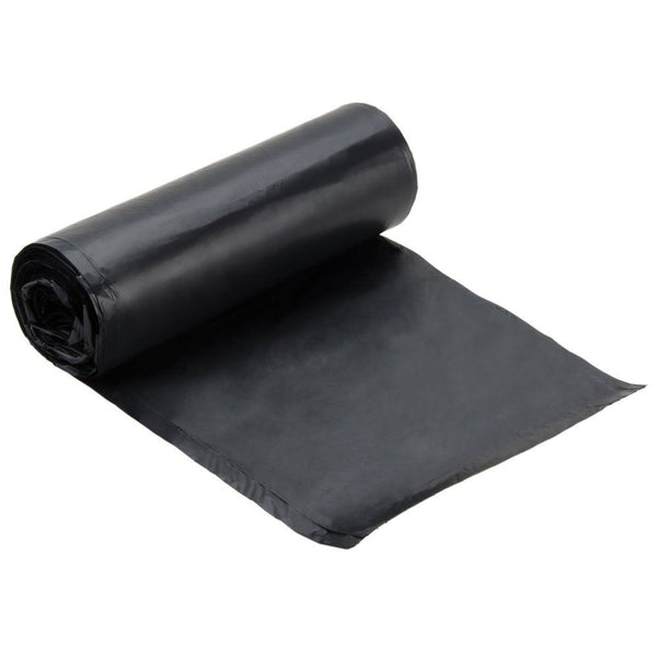Black HDPE (High Density Polyethylene) Trash Can Liners by The Safety Zone - JaniDepot