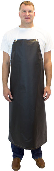 "18 oz. 36"" x 45"" Heavy Weight Black Neoprene Apron Four Grommets & String Ties by The Safety Zone - JaniDepot"