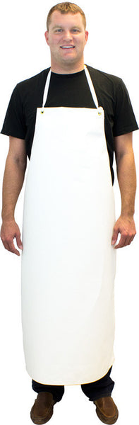 "14 oz. 36"" x 48"" Hycar Medium-Weight Four Grommets & String Ties Apron by The Safety Zone - JaniDepot"