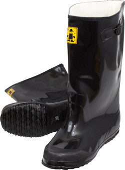 Black Latex Slush Boots by The Safety Zone - JaniDepot