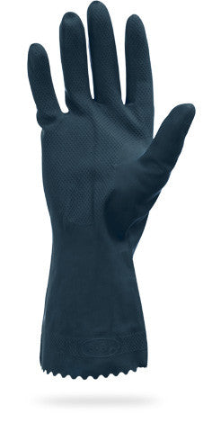 "28 MIL 12"" Black Neoprene Latex Blend Flock Lined Gloves by The Safety Zone - JaniDepot"