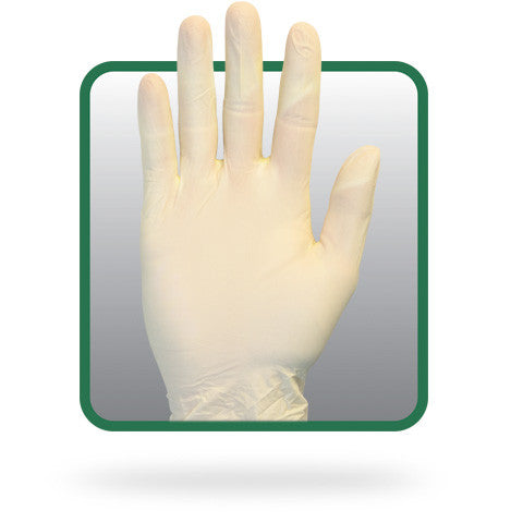 2.8 MIL Natural Color Powder Free Synthetic Vinyl Glove by The Safety Zone - JaniDepot