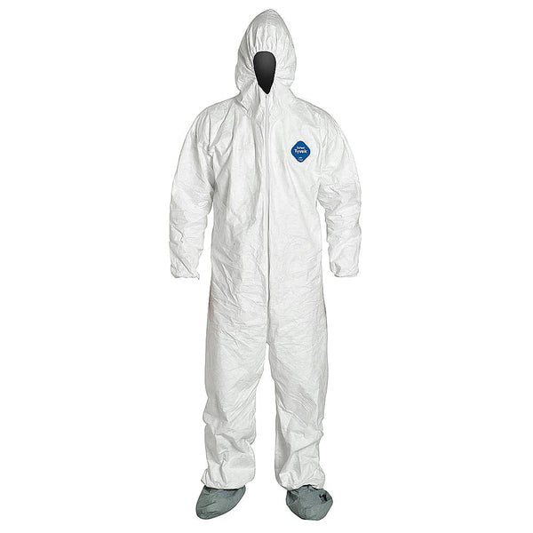 DuPont™ Tyvek® 400  TY122S WH Coverall Hood & Boots-Sold by the Case Only (25 Garments Per Case) by Dupont - JaniDepot