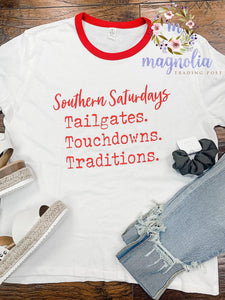 Southern Saturday's Ringer Tee