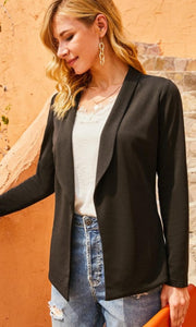 Classic Black Long Sleeve Blazer