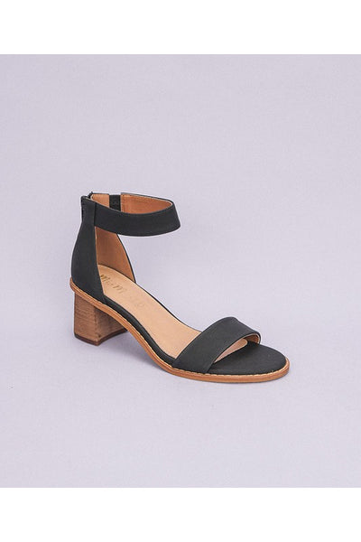 Black Heeled Sandal