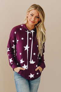 Purple Star Hooded Sweatshirt