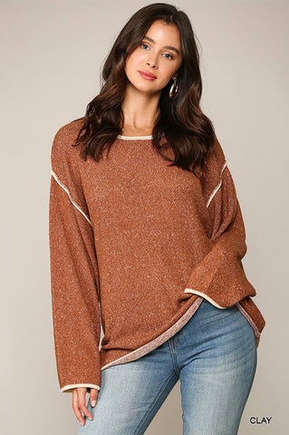 Clay Two-Toned Sweater
