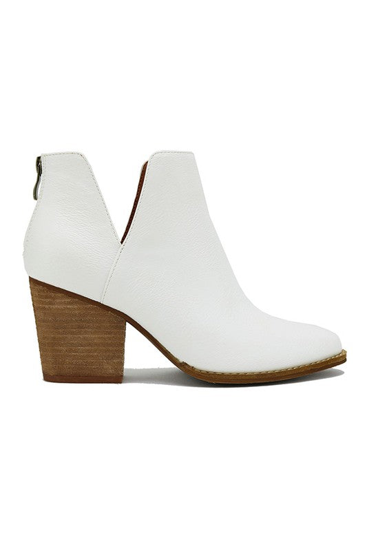 White Side Cut Bootie