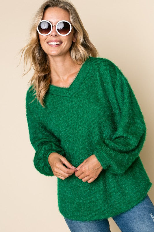 Kelly Green Soft Touch Sweater