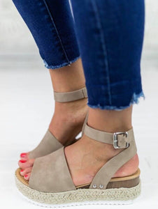 Topic Espadrille Ankle Strap Shoe Taupe