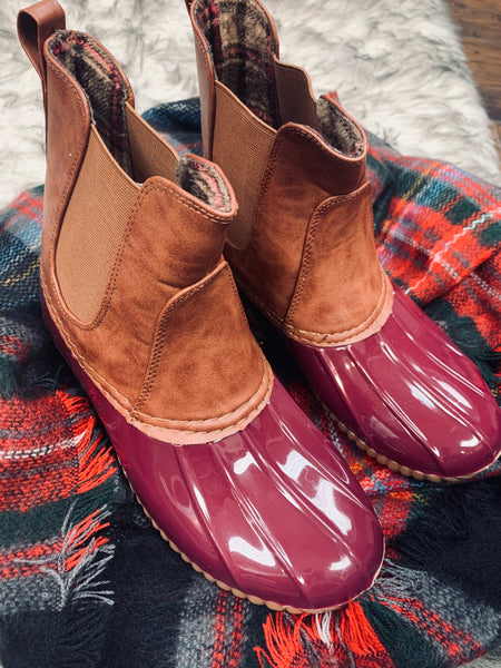 Dylan Duck Boot Bordeaux