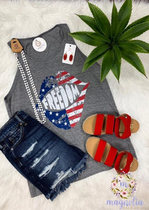 Freedom Lips All Star Graphic Tank