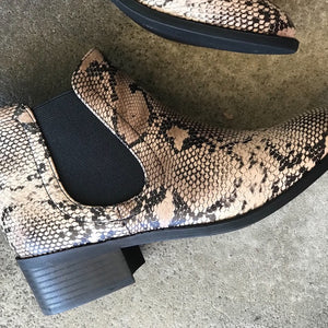 Code Casual Snake Bootie