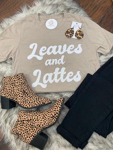Leaves & Lattes Tee