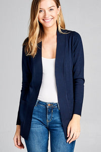 Open Front Sweater Cardigan Navy