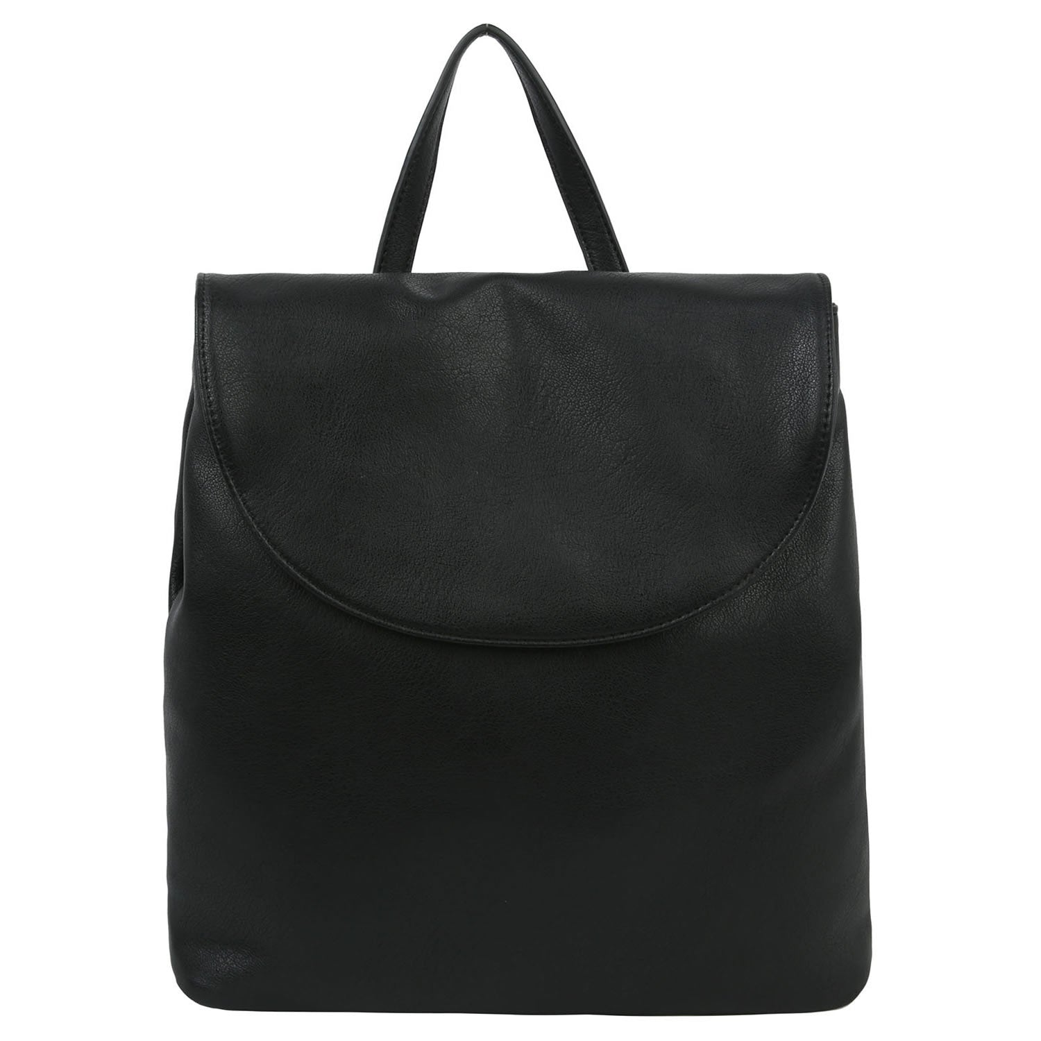 Black Convertible Flap Backpack