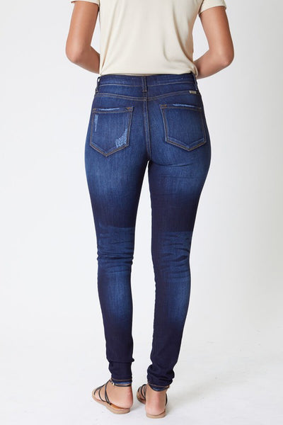 KanCan Button Front Dark Wash Skinny Jean