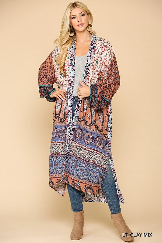 Clay Bohemian Duster Cardigan
