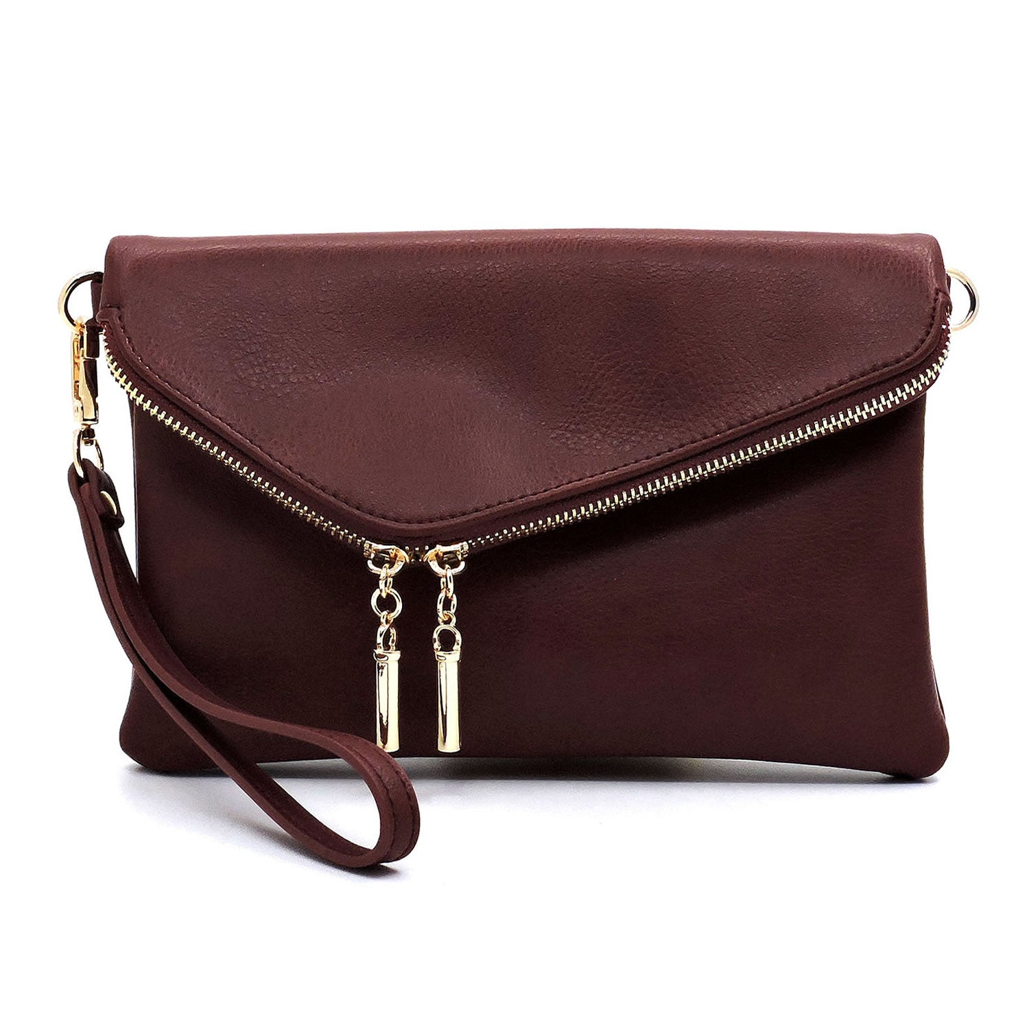 Cranberry Envelope Crossbody Wristlet