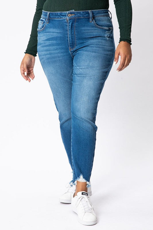 KanCan Super High Rise Destroyed Ankle Skinny Jean